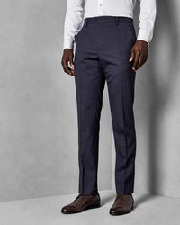 Ted Baker - Checked Wool Suit Trousers - Lyst