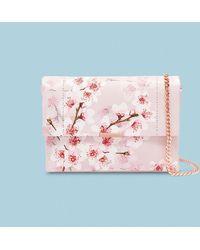 Ted Baker - Soft Blossom Leather Cross Body Bag - Lyst