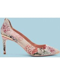 fc874184045 Ted Baker Cut-out Detail Suede Courts in Pink - Lyst