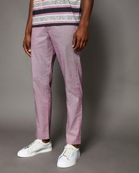 Ted Baker - Classic Fit Textured Chinos - Lyst
