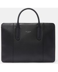 Ted Baker - Textured Leather Document Bag - Lyst