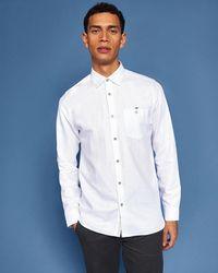 Ted Baker - Linen Shirt - Lyst