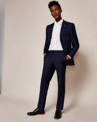 Ted Baker - Sterling Regular Birdseye Wool Suit Trousers - Lyst