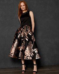 Ted Baker - Splendour Pleated Midi Skirt - Lyst
