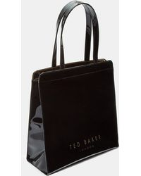 c6595e1932dd9 Lyst - Ted Baker Scalloped Icon Tote Bag in Black