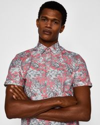 Ted Baker - Floral Printed Shirt - Lyst