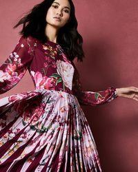 116c0dc3f6de Ted Baker Ranita Sheer Bodice Sequin Dress in Metallic - Lyst