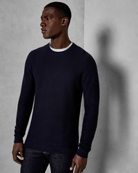 Ted Baker - Textured Wool Jumper - Lyst