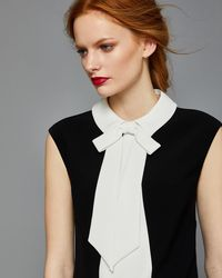 Ted Baker - Bow Collar Scallop Hem Top - Lyst