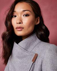 Ted Baker - Long Wool Wrap Coat - Lyst