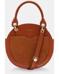 7179c56d98ef1f Ted Baker Proter Leather Shoulder Bag in Brown - Lyst