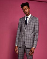 Ted Baker - Debonair Slim Fit Checked Wool Suit Jacket - Lyst