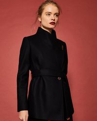 Ted Baker - Short Wrap Cashmere-blend Coat - Lyst