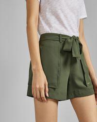 d33cc0ab6dbb Ted Baker Quellia Tropical Toucan Print Shorts in White - Lyst