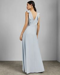a37ce05d05afcb Ted Baker - Tie The Knot Ardenia Waterfall Ruffle Gown - Lyst