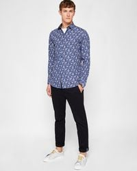 Ted Baker - Floral Print Cotton Shirt - Lyst