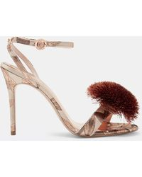 Ted Baker - Pom Pom Printed Sandals - Lyst