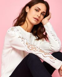 Ted Baker - Lace Detail Jumper - Lyst