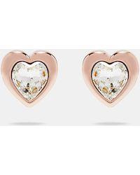 Ted Baker - Crystal Heart Earrings - Lyst