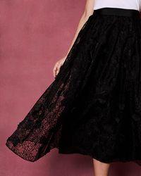 Ted Baker - Ankle Length Full Skirt - Lyst