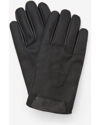 Ted Baker - Textured Leather-trim Gloves - Lyst