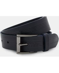 Ted Baker - Textured Detail Leather Belt - Lyst