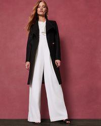 Ted Baker - Midi Wool Wrap Coat - Lyst