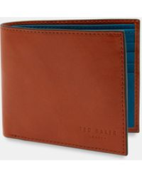 d9ff5f0444a0c Ted Baker - Contrast Internals Leather Bi-fold Wallet - Lyst