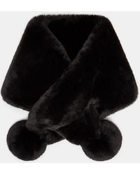 Ted Baker - Faux Fur Pom Pom Snood - Lyst