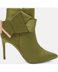Ted Baker - Knotted Bow Satin Ankle Boots - Lyst