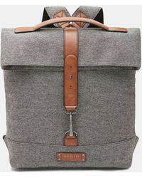 Ted Baker - Canvas Roll Down Backpack - Lyst