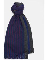 Ted Baker - Striped Raschel Wool Scarf - Lyst