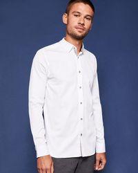 Ted Baker - Poplin Cotton Shirt - Lyst