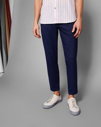 Ted Baker - Cropped Pleated Trousers - Lyst
