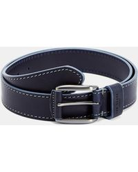 Ted Baker - Contrast Stitch Leather Belt - Lyst