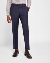 Ted Baker - Sterling Checked Wool Trousers - Lyst
