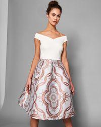Ted Baker - Versailles Jacquard Full Skirted Dress - Lyst