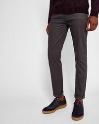 Ted Baker - Brushed Cotton-blend Trousers - Lyst