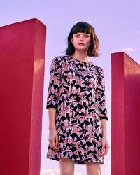 Ted Baker - Crane Print Shift Dress - Lyst