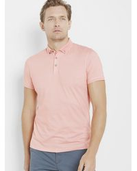 Ted Baker - Rectangle Geo Print Cotton Polo Shirt - Lyst