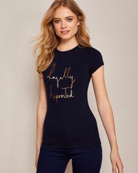 Ted Baker - 'royally Appointed' Fitted T-shirt - Lyst