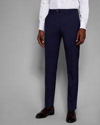 Ted Baker - Debonair Slim Check Trousers - Lyst