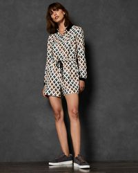 Ted Baker - Heart Print Playsuit - Lyst