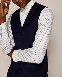 Ted Baker - Sterling Birdseye Wool Waistcoat - Lyst