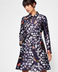 Ted Baker - Kyoto Gardens Trench Coat - Lyst