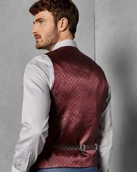 cb61689d2 Lyst - Ted Baker Tight Lines Waistcoat in Blue for Men
