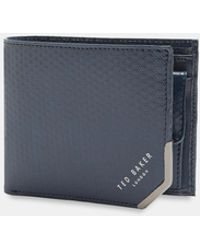 Ted Baker - Spot Embossed Bi-fold Leather Wallet - Lyst