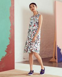Ted Baker - Paint Splash Print Drop Waist Dress - Lyst