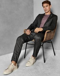 Ted Baker - Semi Plain Slim Fit Trousers - Lyst