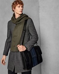 a68c077e3 Ted Baker Color Block Leather Satchel in Blue for Men - Lyst